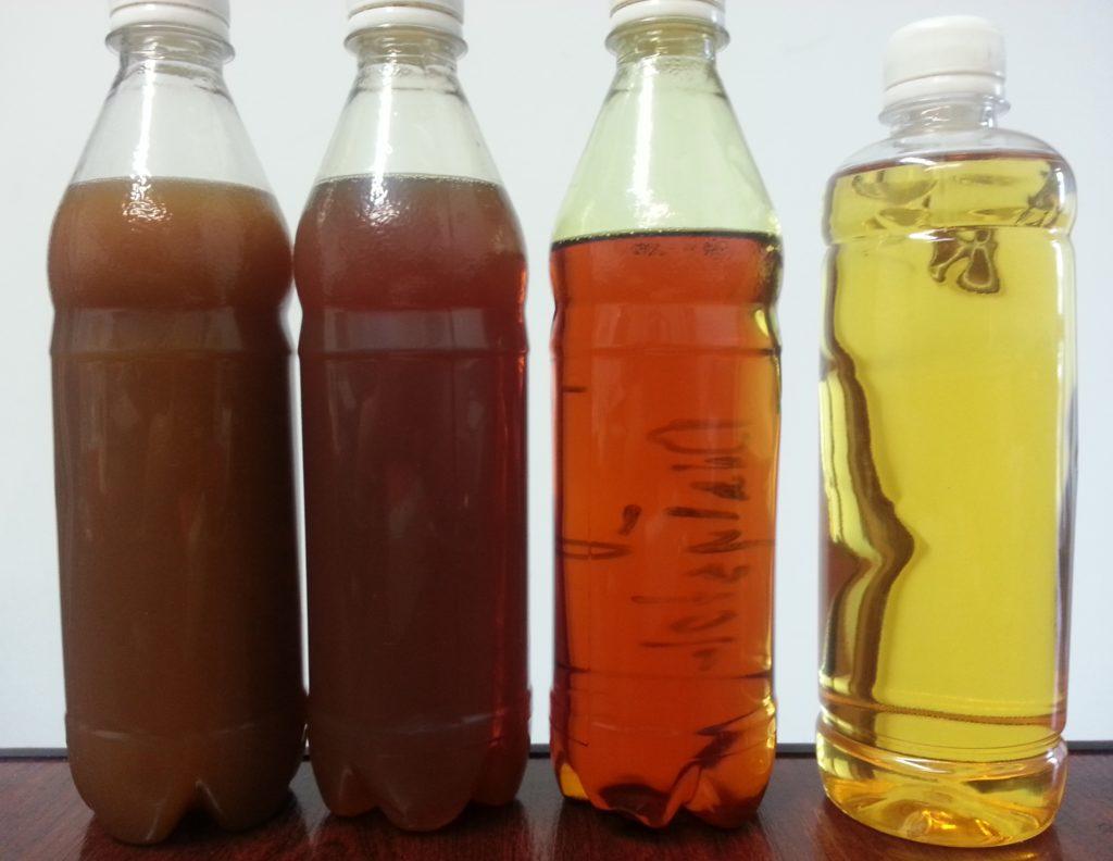 Usuwanie wody z oleju